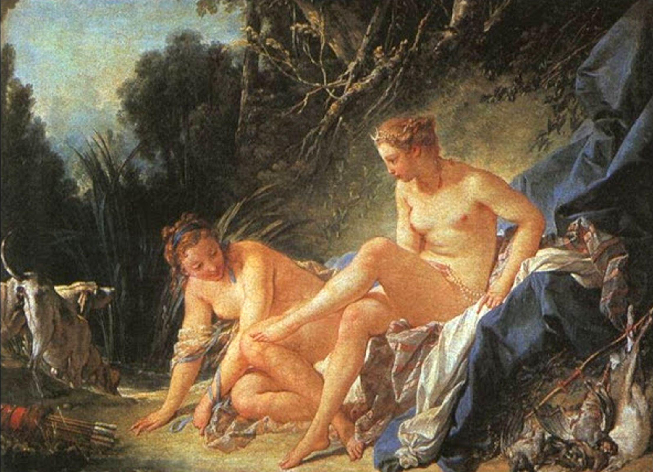 Il riposo di diana uscita dal bagno fran ois boucher - Il bagno di diana klossowski ...