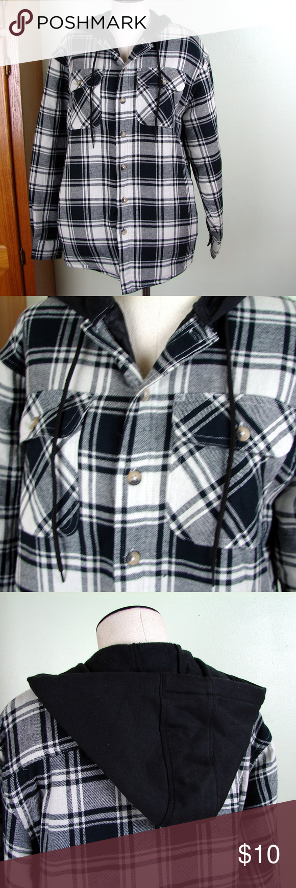 Quilted flannel shirt jacket  Wrangler Flannel shirt jacket quilted hoodie S