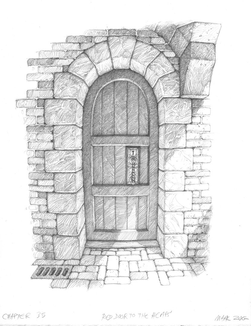Red House Drawing: The Big Red Door From Septimus Heap