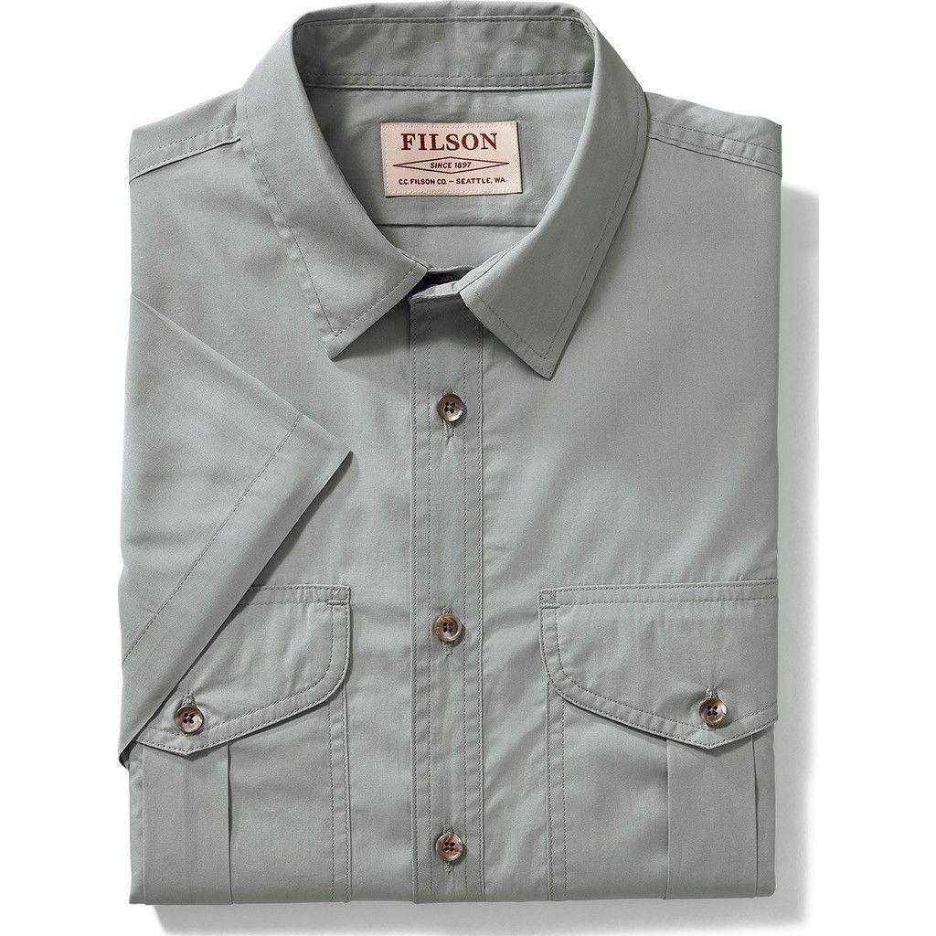 Filson Short Sleeve Feather Cloth Shirt | Smoke Blue