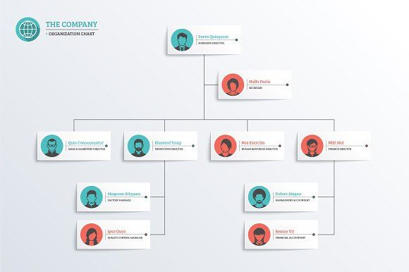 Company Organization Chart by vekstok on @creativemarket Some - company organization chart