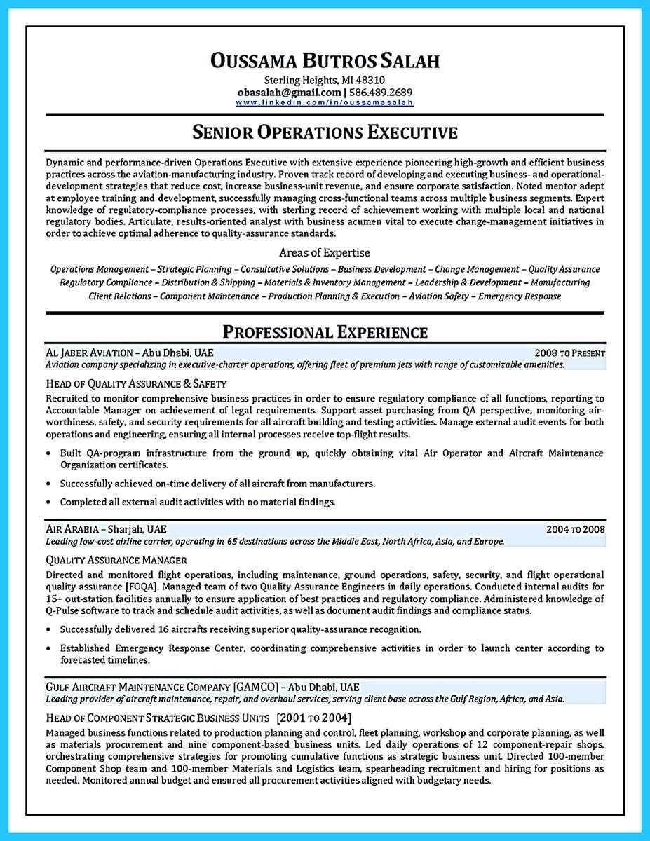Aircraft Mechanic Resume Examples When You Want To Seek A Job In Aircraft  Industry, You Need To Have Some Years Of Experience In This Field.  Aviation Resume Examples