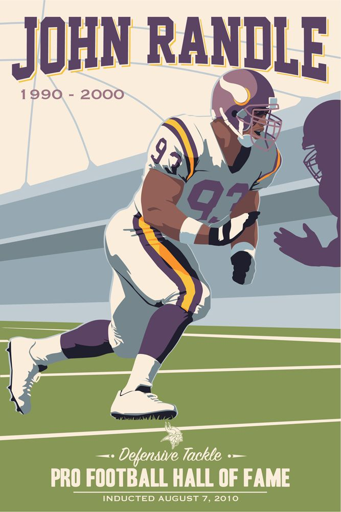 6a8bce9b John Randle, Vikings poster artwork for the US Bank Stadium ...