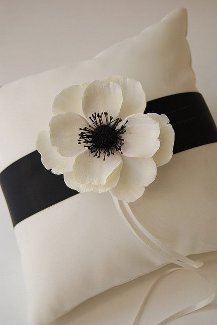 anemome clay flower ring pillow | Ring pillows, Pillows and Ring