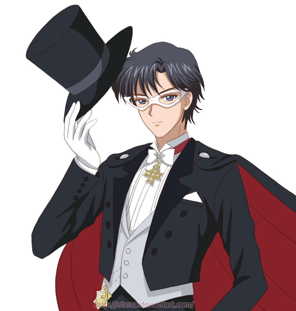 Sailor Moon Crystal style fan art Tuxedo Kamen by starca