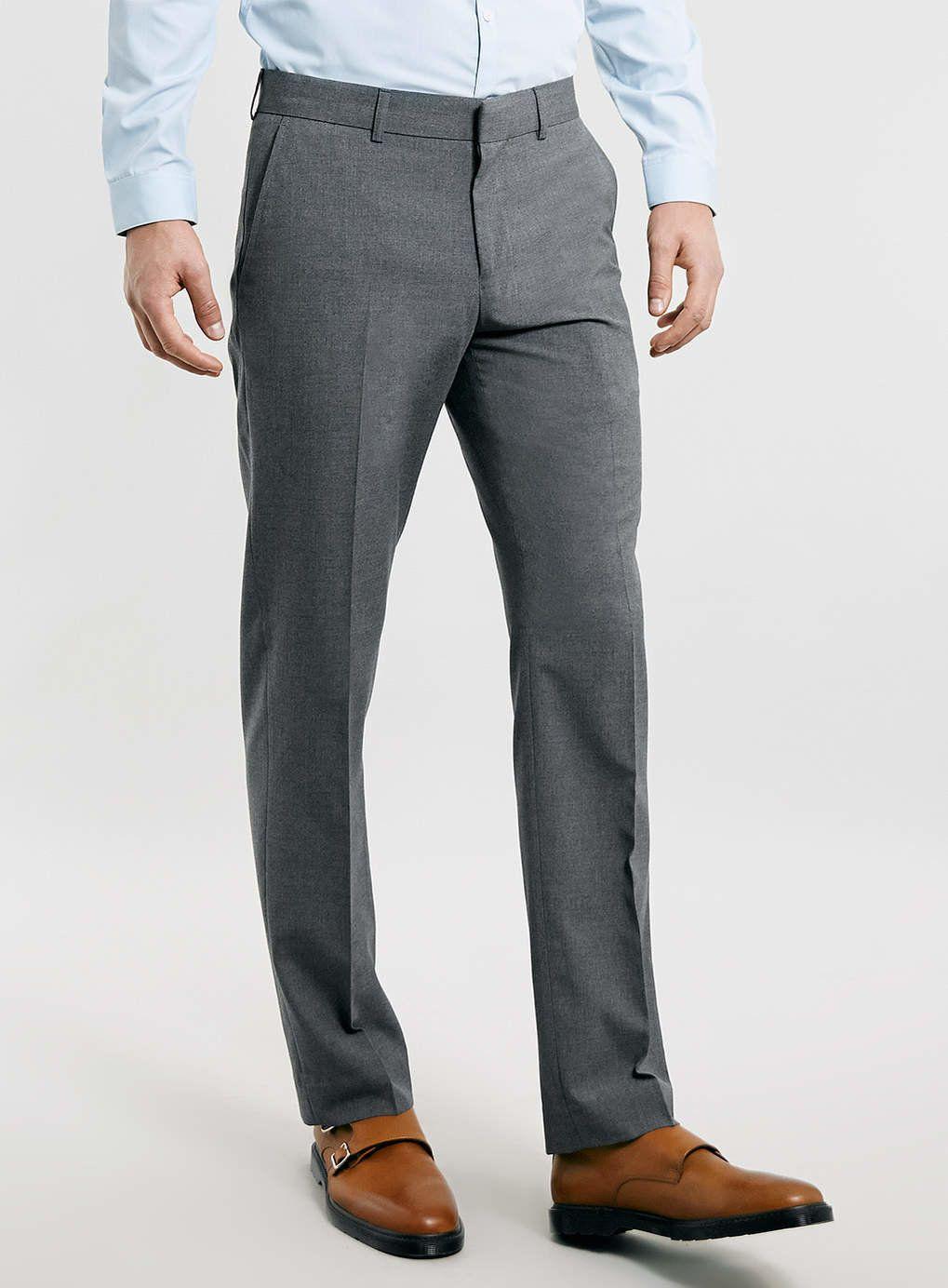 Light Grey Men V By Formal Trouser Slim Appealing