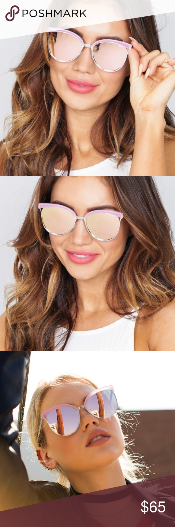 Quay Australia Black My Girl Cateye Sunglasses $65 NEW   eBay