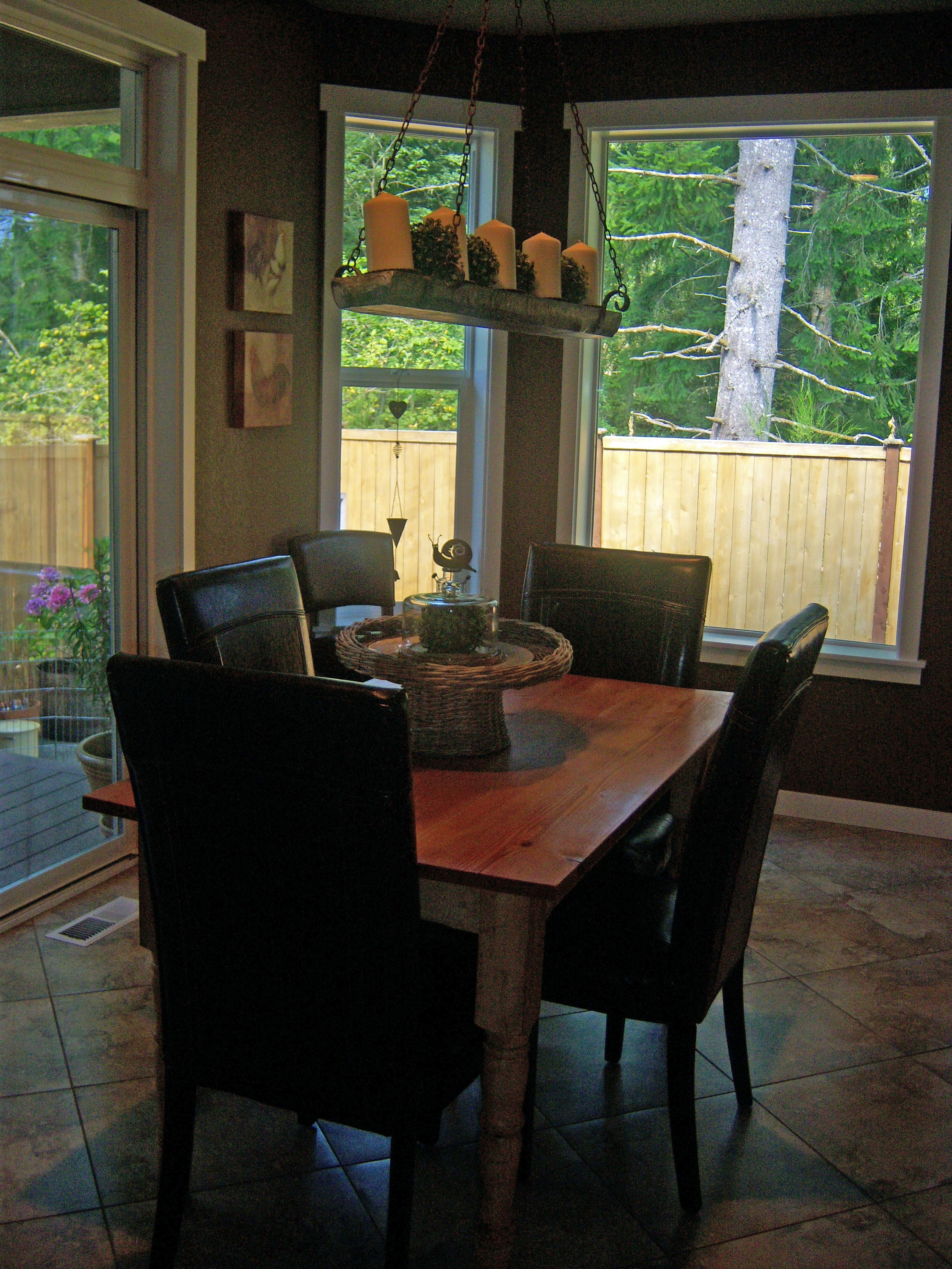 my kitchen nook leather chairs from Pier 1