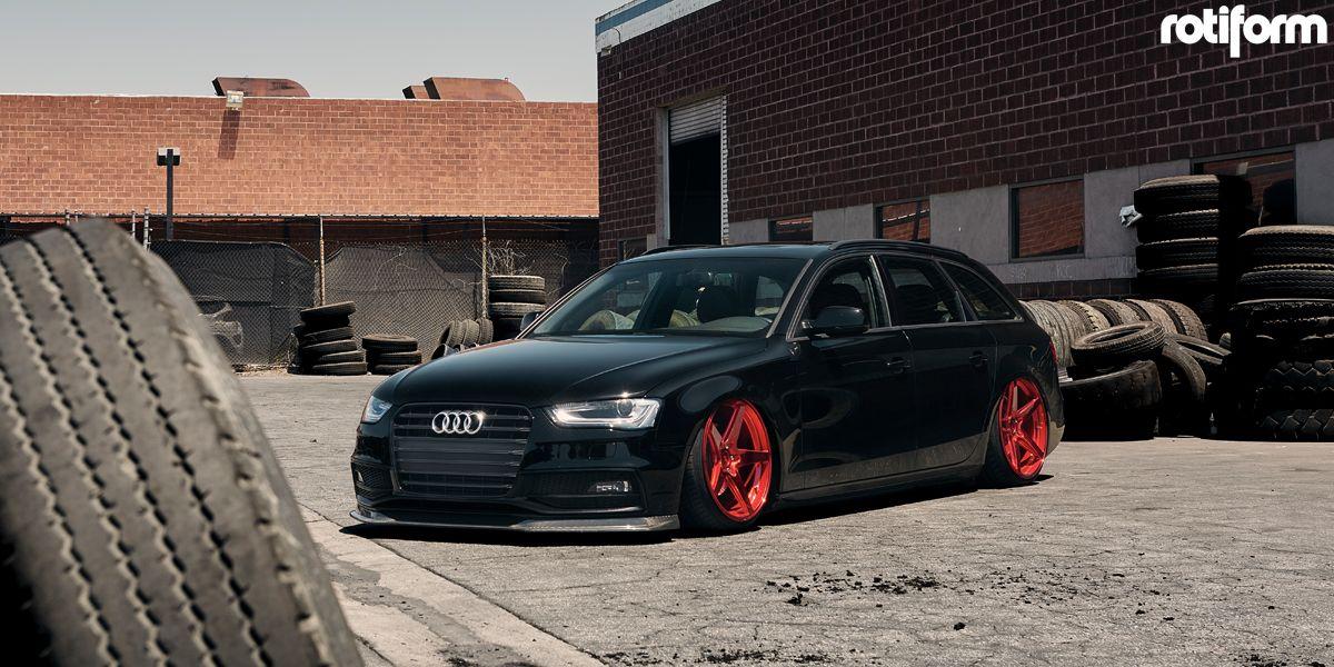 Audi a4 w custom wheel outlet rotiform wgr wheels