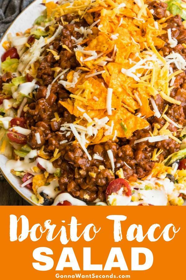 Dorito Taco Salad- Hearty, Refreshing And Loaded With Goodies!