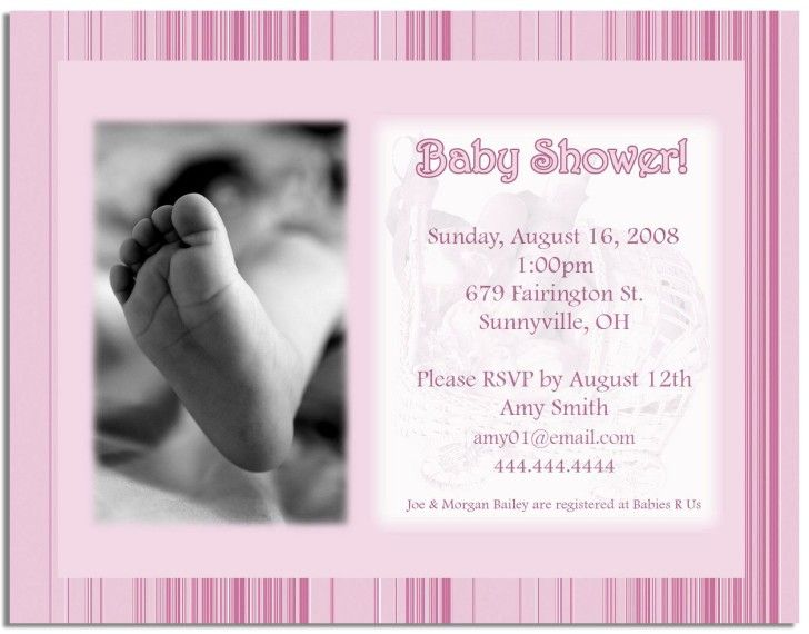 Free Ideas For Baby Shower Invitation Templates FREE Baby Shower
