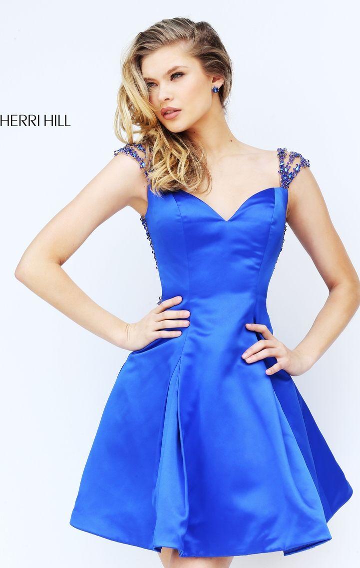 2016 Sherri Hill 50548 Beads Sexy Open Back Homecoming Dress Royal