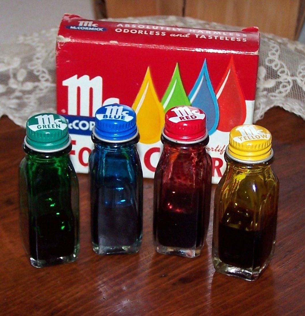 Image detail for -Vintage Food Color Bottles, McCormick ...