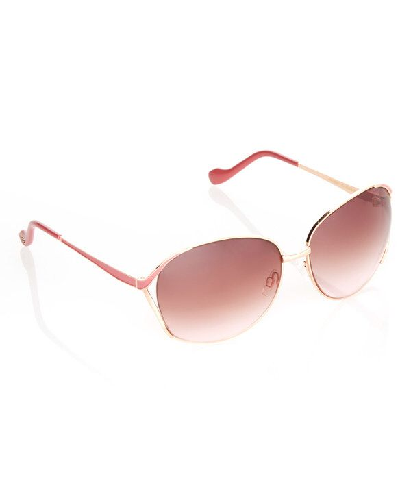 e10dac17c3cd3 Look at this Jessica Simpson Collection Rose Gold Oversize Square Sunglasses  on  zulily today!