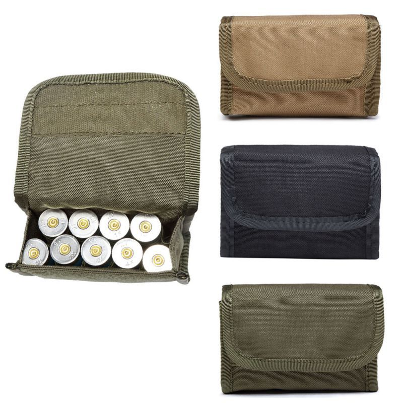 Durable Shotgun Shell Ammo Pouch Waist Bag Holder Tactical MOLLE 6L