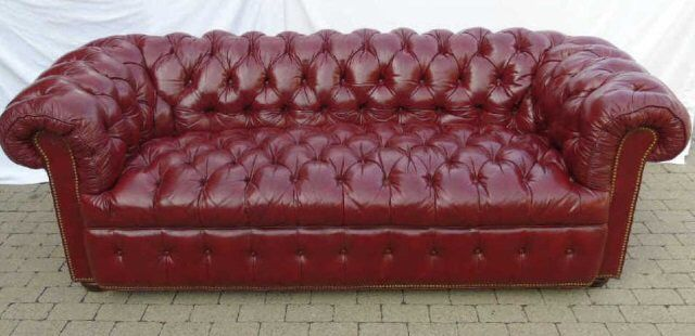 I Just Discovered This Vintage Burgundy Tufted Leather Chesterfield Sofa On  LiveAuctioneers And Wanted To Share