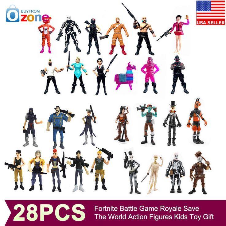 UK 28PCS Fortnite Battle Royale Save The World Action Figures Kids Toy Xmas Gift