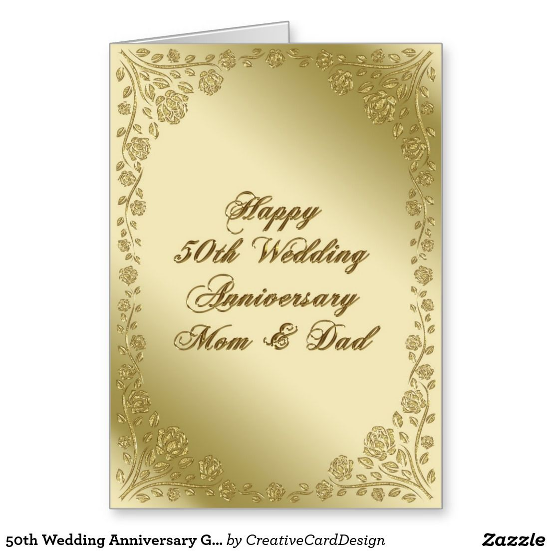 Th wedding anniversary greeting card