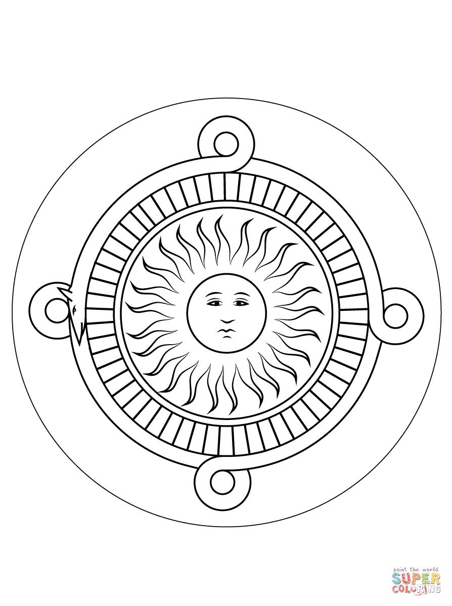 Aztec+Sun+Calendar+Coloring+Pages | simnologia azteca | Pinterest