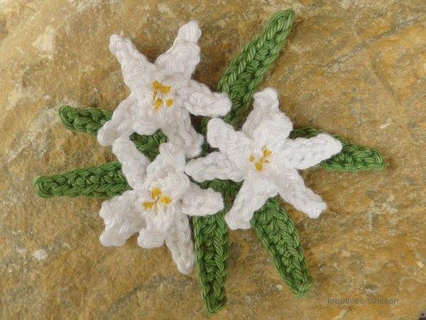 Jetzt Edelweiß Häkeln Mit Blütenblättern Dran Die Schöne Miniblume