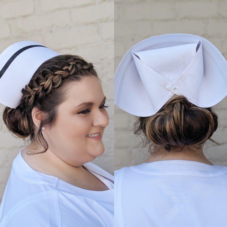 Nurse Pinning Braided Updo Nurse Hairstyles Nursing Pins Braided Hairstyles Updo