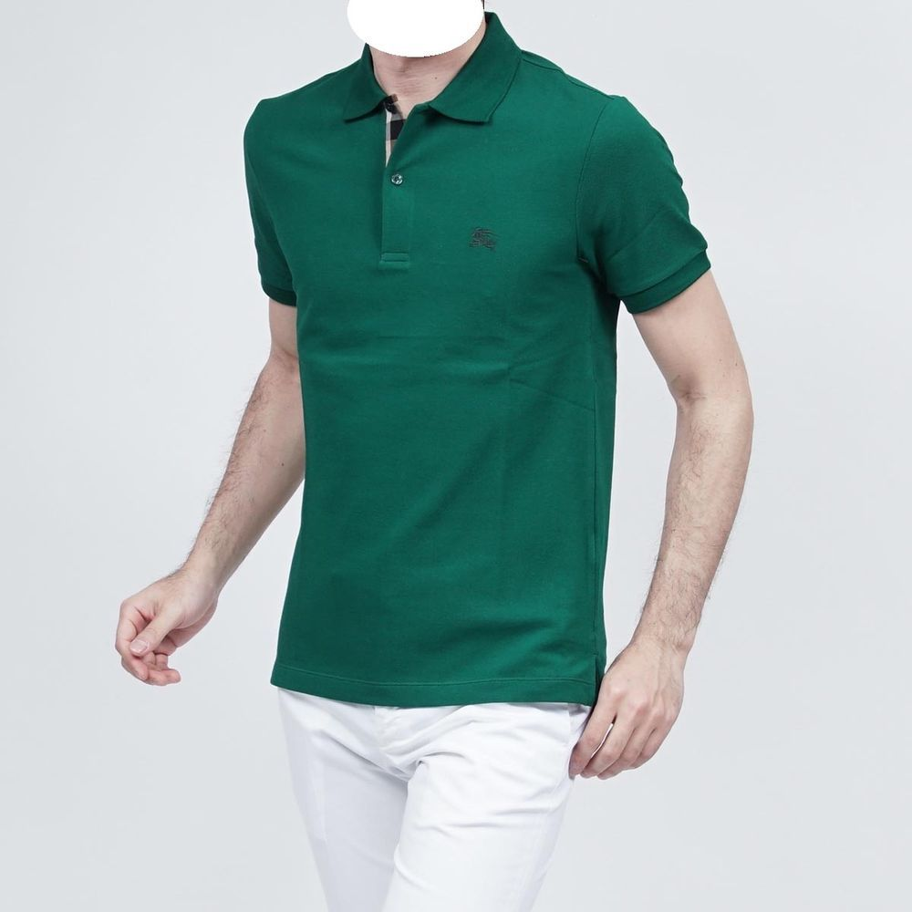 Men S Burberry Brit Polo Golf Shirt In Pigment Green Color 175 Price Tag Nwt Burberry Polorugby Golf Shirts Burberry Brit Polo