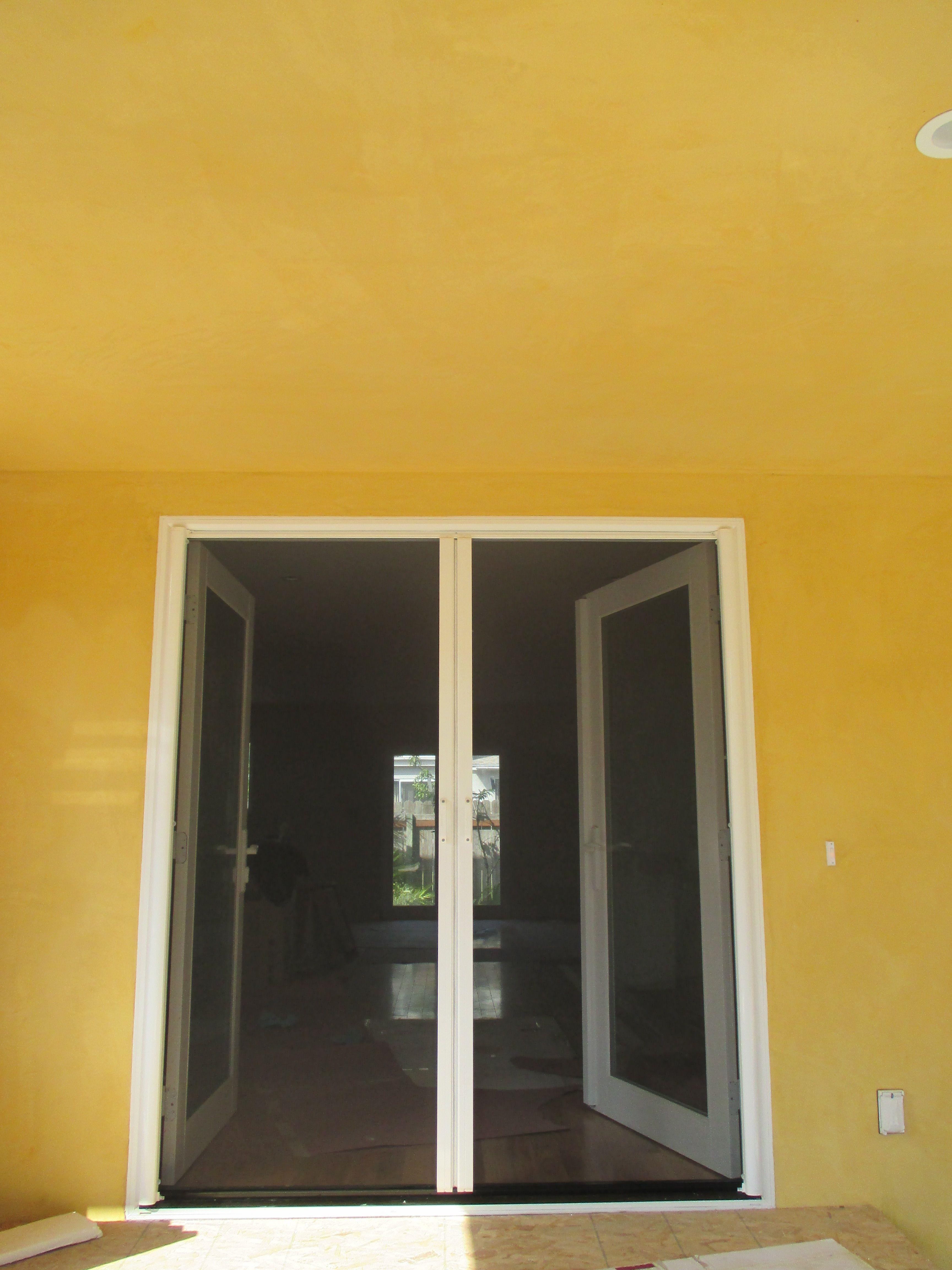 Inswing Single and Double Door Retractable StowAway Screens ...