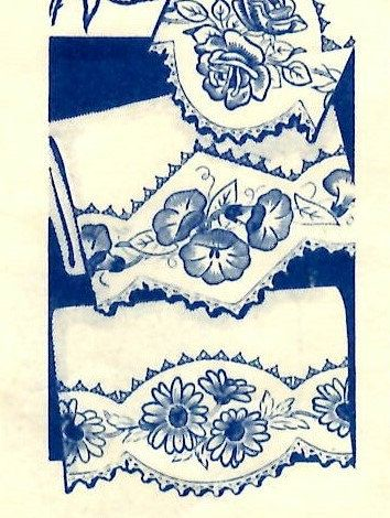 Rose Morning Glory Daisies 1950s Hand Embroidery Pattern For Pillow