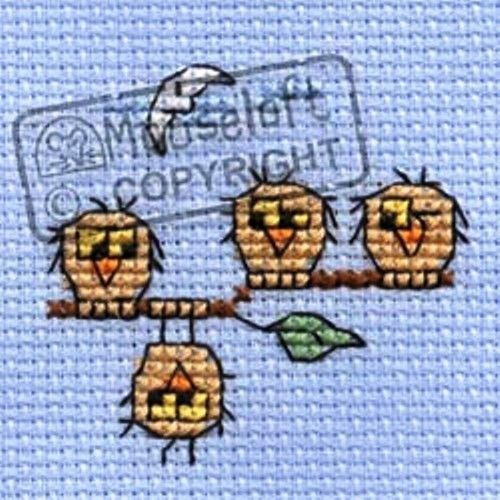 no card Christmas Eve Owl Stitchlet  by Mouseloft