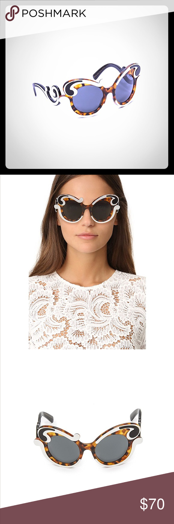 93ec25786078b Prada Special Fit Swirl Sunglasses SPR23N 52021 100% Authentic These  sunglasses are a part of