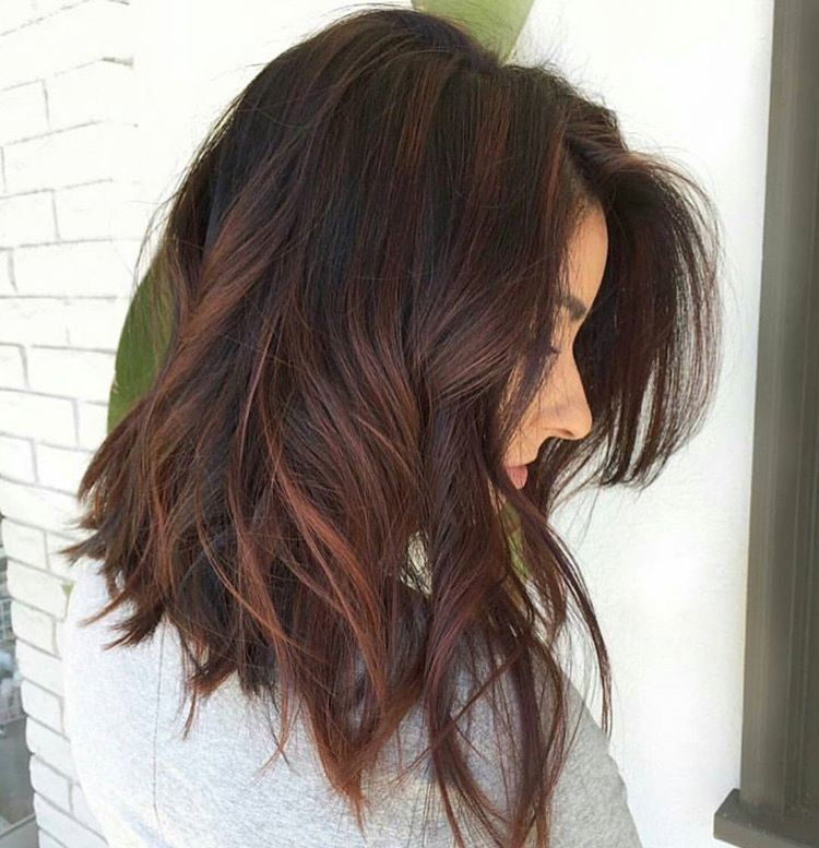 Pin by Paige Higgins on hair hair more hair | Coloration cheveux, Cheveux, Coiffure cheveux mi long