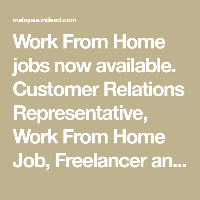 Work From Home Jobs Now Available Customer Relations Representative Work From Home Job Freelancer And Mor Student Jobs Work From Home Jobs Working From Home