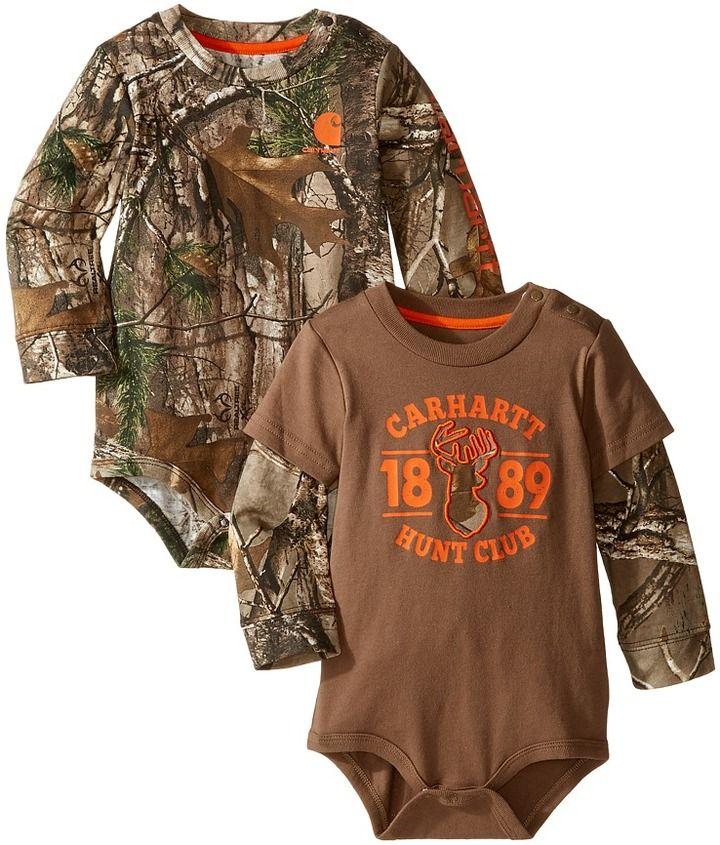 dd51377a6a Carhartt Kids Long Sleeved Camo Body Shirt 2-Pack (Infant ...