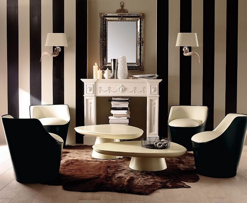 Combining A Traditional Design Style With Trendy Additions Like Vertical  Black And White Stripes   Decoist