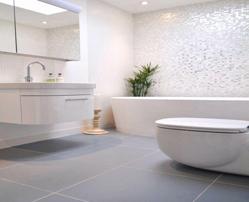 Bad Neu Gestalten Bilder Modern Bathroom Tile Gray Wallpaper