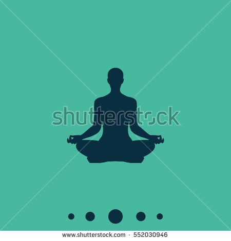 meditation or meditate flat vector icon yoga illustration