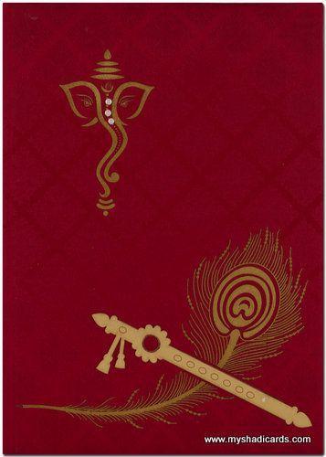 hindu wedding card background design