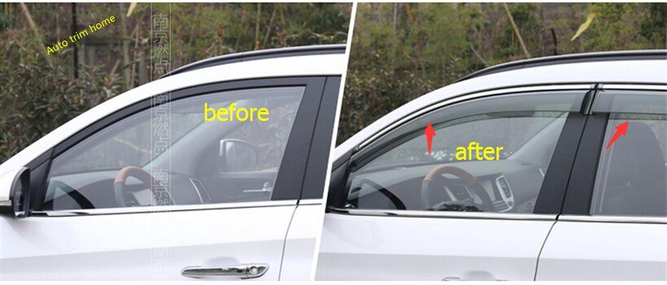 Car Window Visor Vent Deflector Sun//Rain Guards for Hyundai Tucson 2016-2020