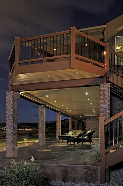 Led Recessed Down Lights Under A Deck Light The Patio Below Led
