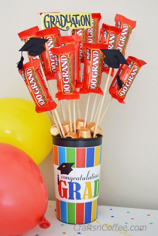 Fun idea diy a happy graduation candy bouquet easy