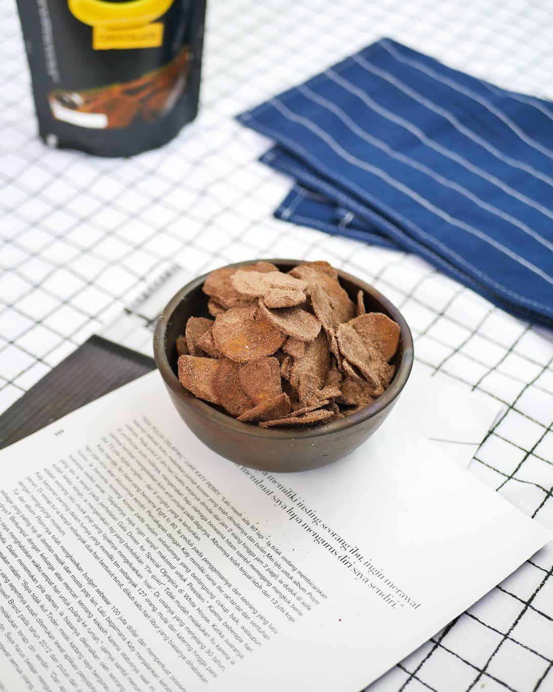 Rekomendasi Cemilan Kripik Pisang Dengan Bubuk Coklat Yang Gak Medit Sama Sekali Buat Rasa Silahkan Order Dan Coba Food Healthy Recipes Healthy