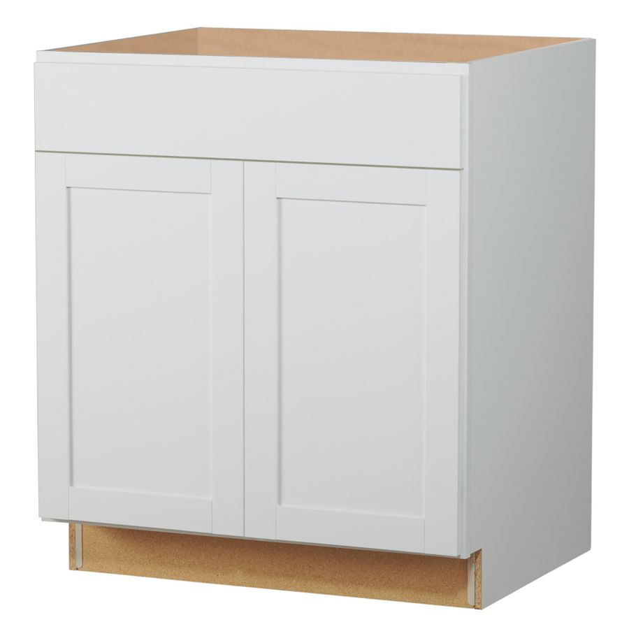 Kitchen Classics Arcadia W X H X D White Shaker Door And Drawer Base Cabinet