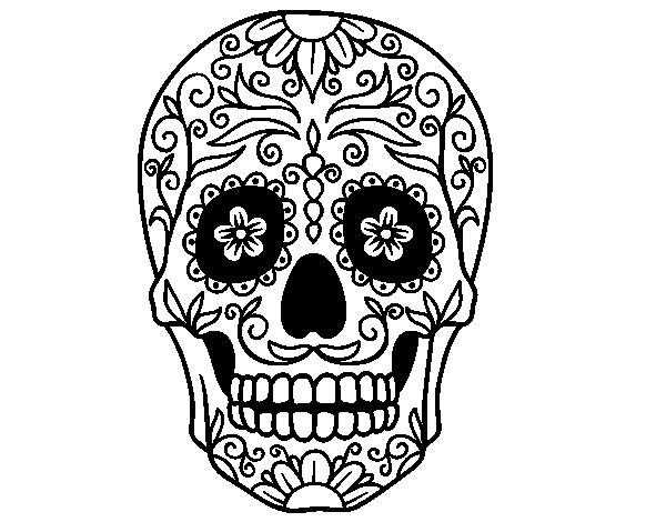 Dibujo de Calavera mejicana para colorear | Calaveras | Pinterest