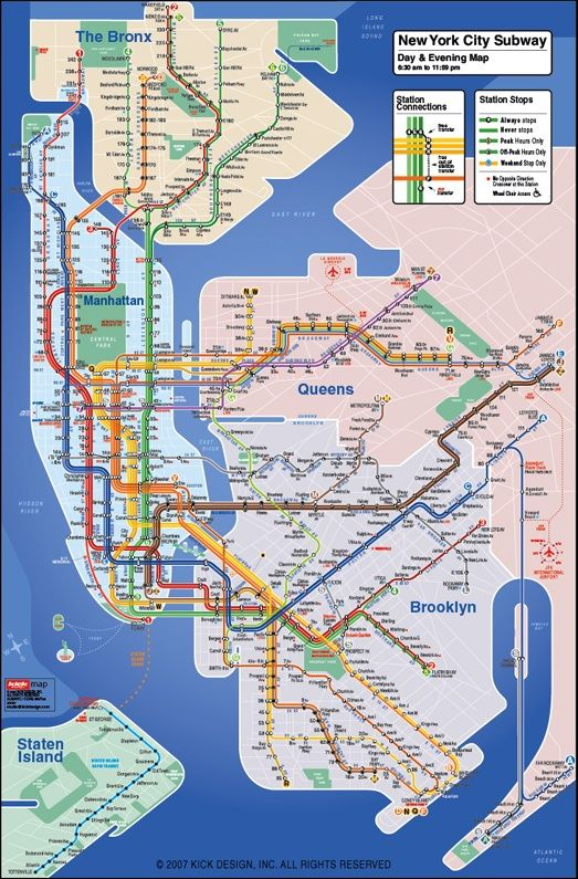 New York City Navigating Subway Map.Kickmap Simplifying Navigation Of The Nyc Subway System Maps And