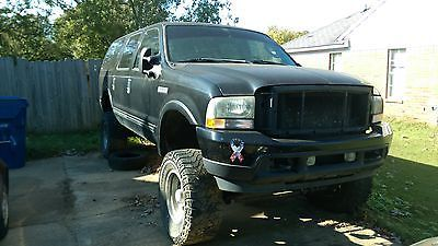 Ebay  Ford Excursion Limited Black W Tan Leather Interior Limited Many Upgrades And