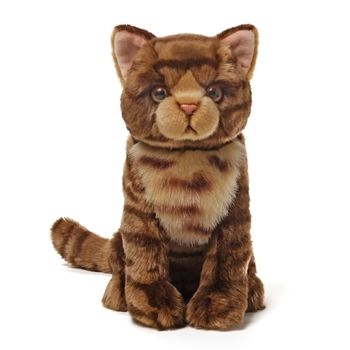 Purrington The Lifelike Brown Cat Stuffed Animal By Gund Stuffed Animal Cat Cat Plush Cats And Kittens