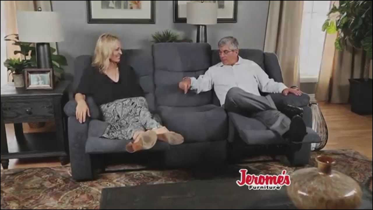 Gentil Reclining Sofa Against Wall