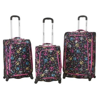 Rockland Fusion 3-pc. Expandable Spinner Luggage Set - Peace
