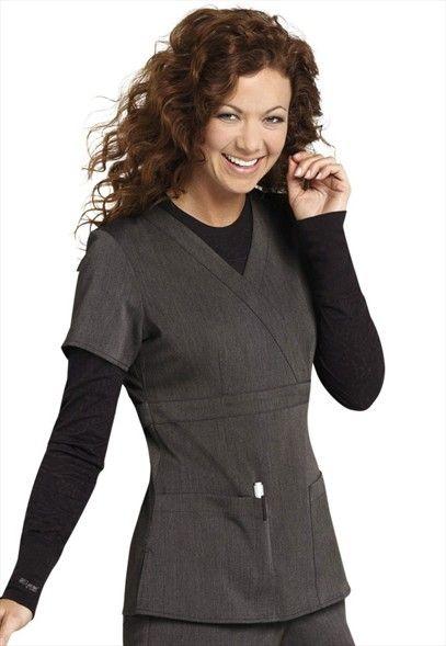 Greys Anatomy Signature Series v-neck wrap scrub top.   on ...