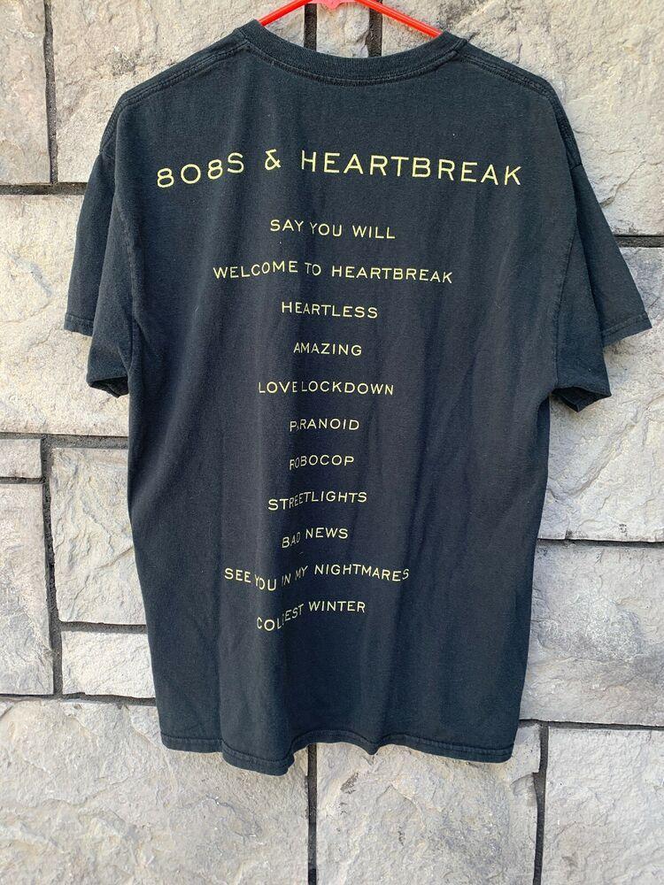 Kanye West 808s Heartbreak 2015 Hollywood Bowl Offical Merch Tour T Shirt Sz L Fashion Clothing Shoes Accessories Menscloth Tour T Shirts T Shirt Shirts